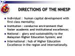 directions of the nhesp