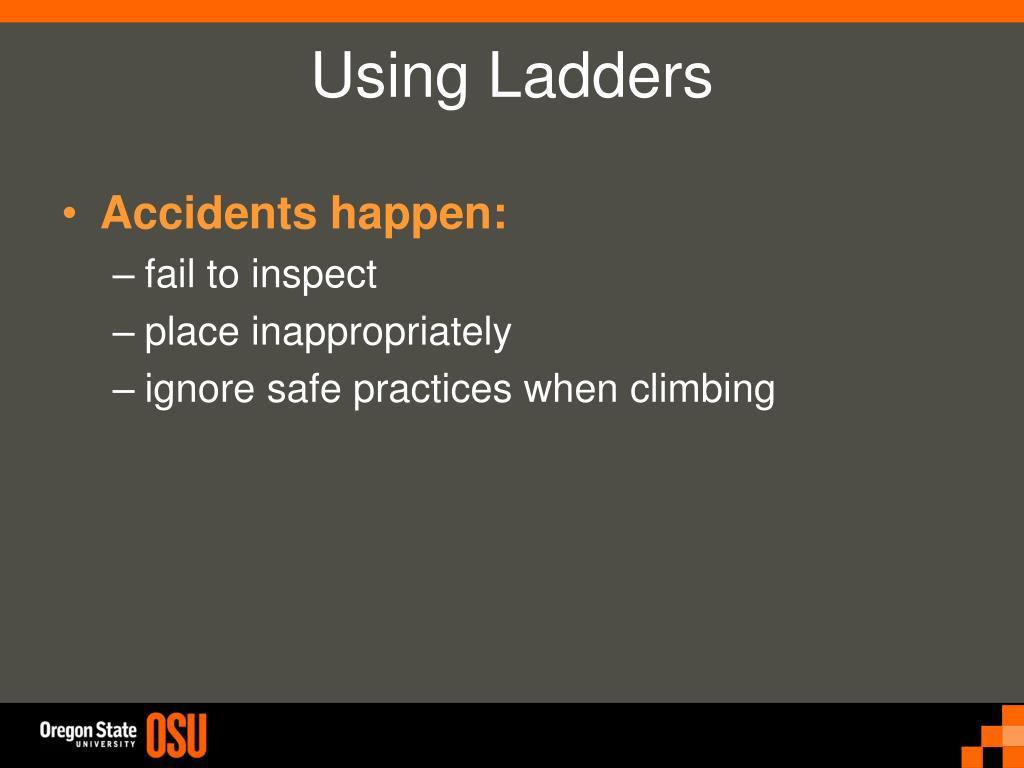 Accidents happen: