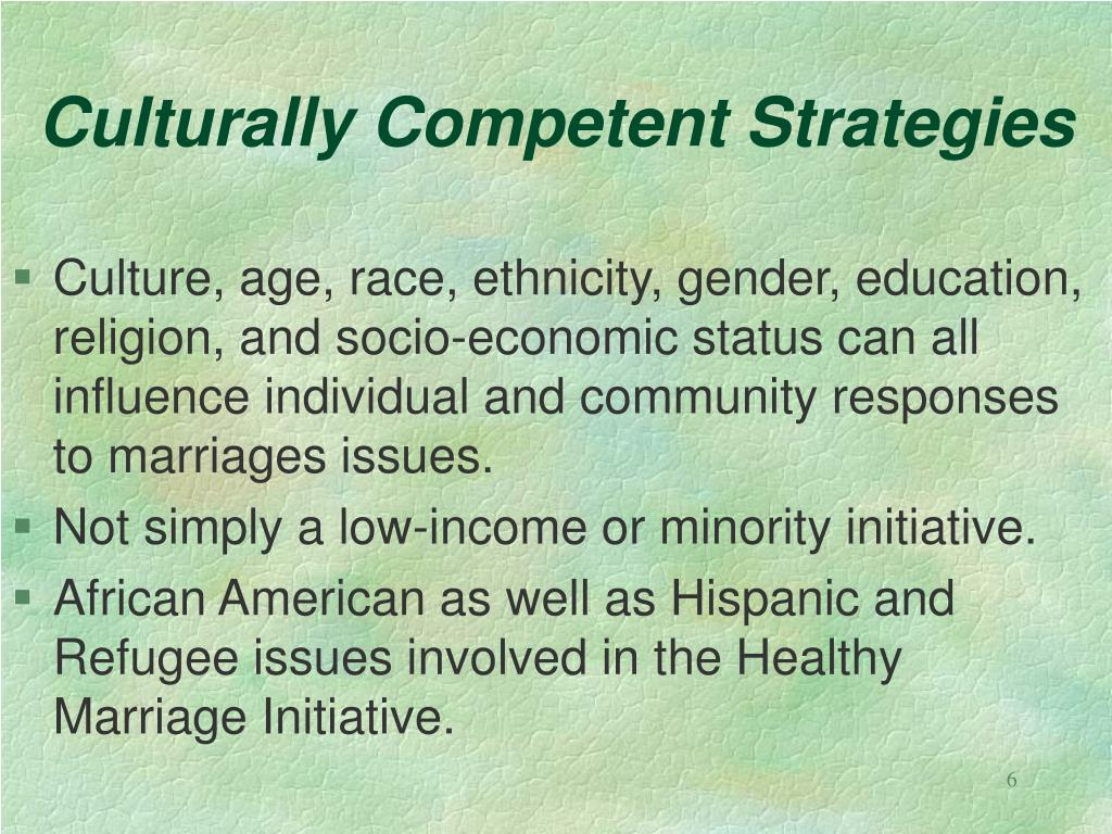 Culturally Competent Strategies