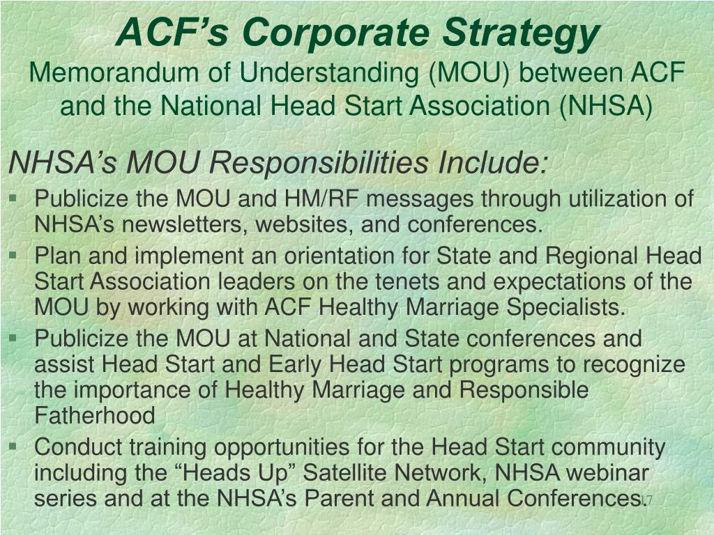 ACF's Corporate Strategy