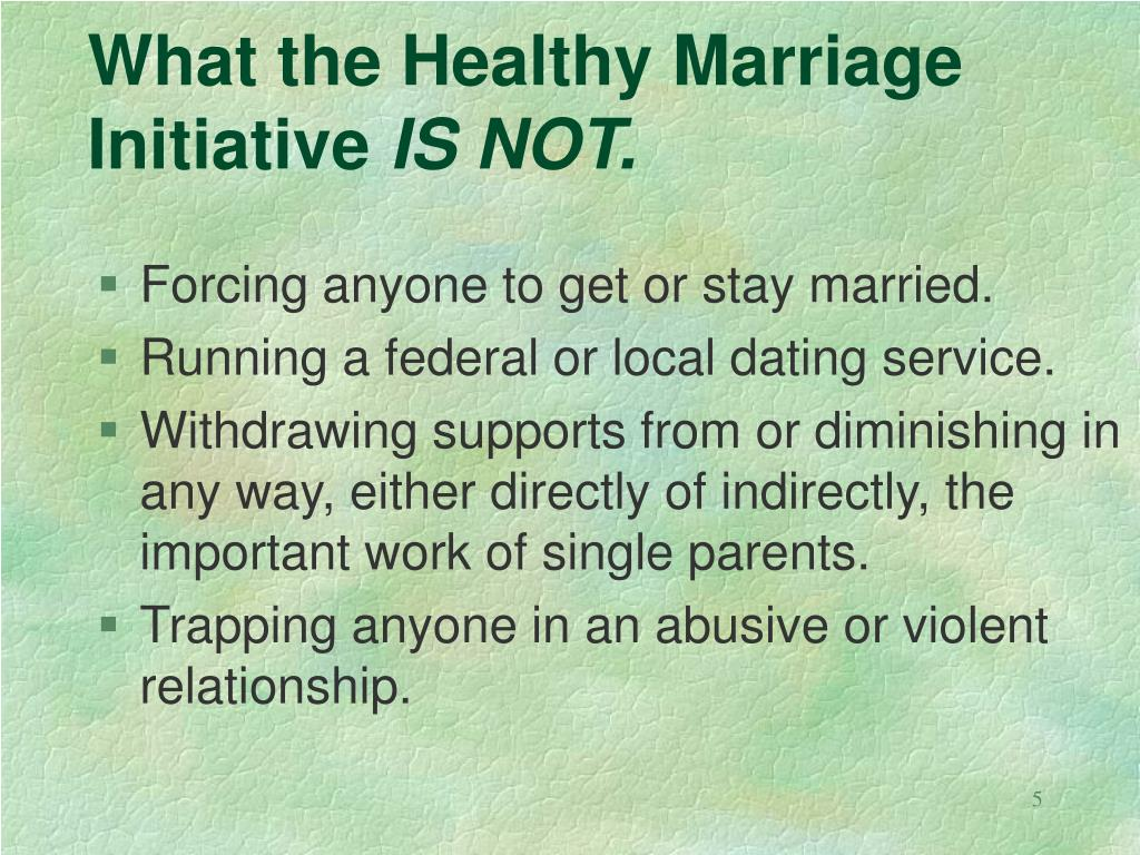 What the Healthy Marriage Initiative