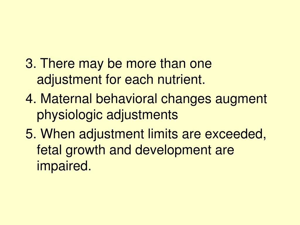 3. There may be more than one adjustment for each nutrient.