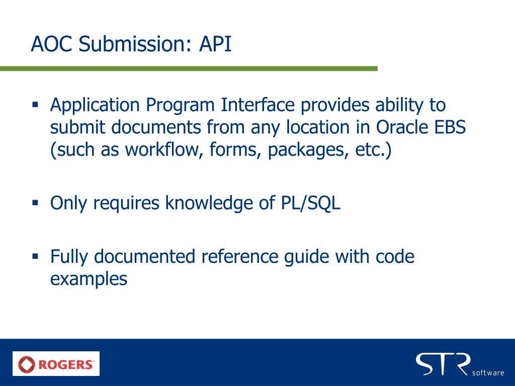 AOC Submission: API