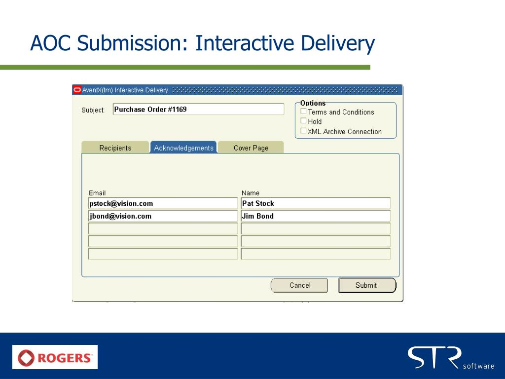 AOC Submission: Interactive Delivery