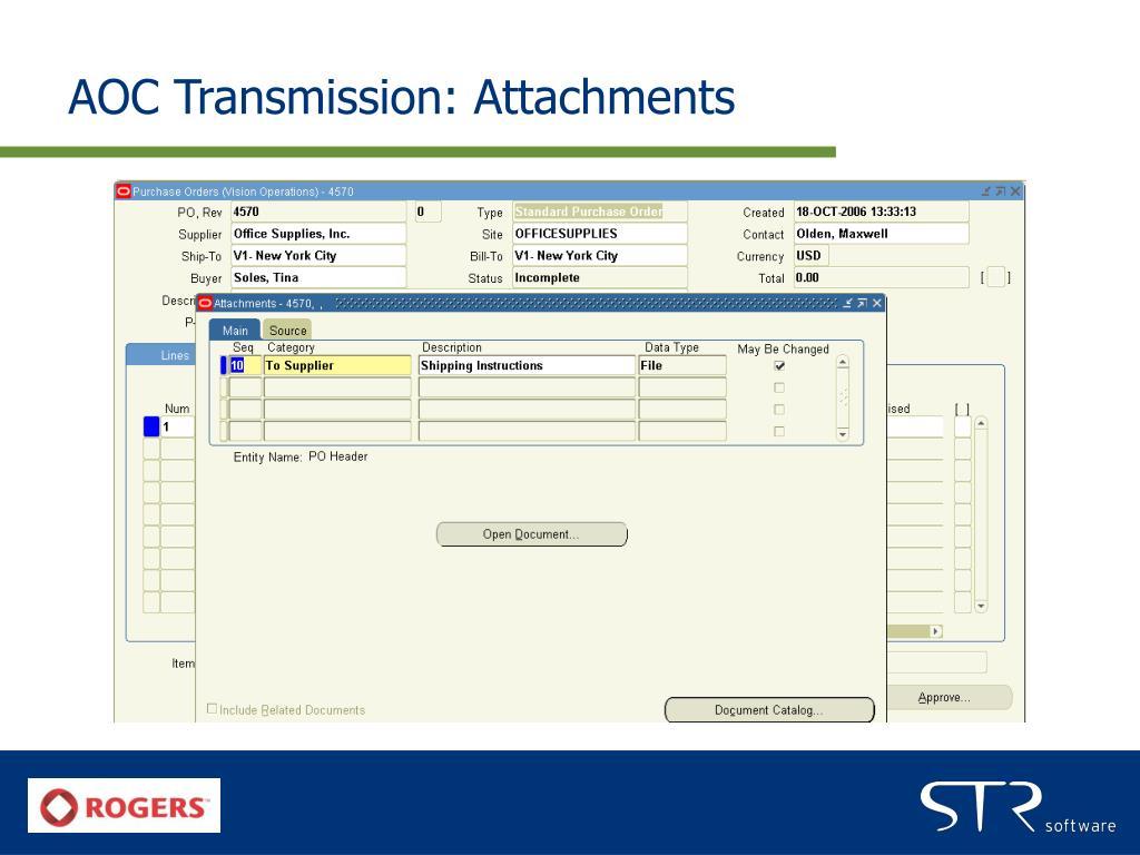 AOC Transmission: Attachments