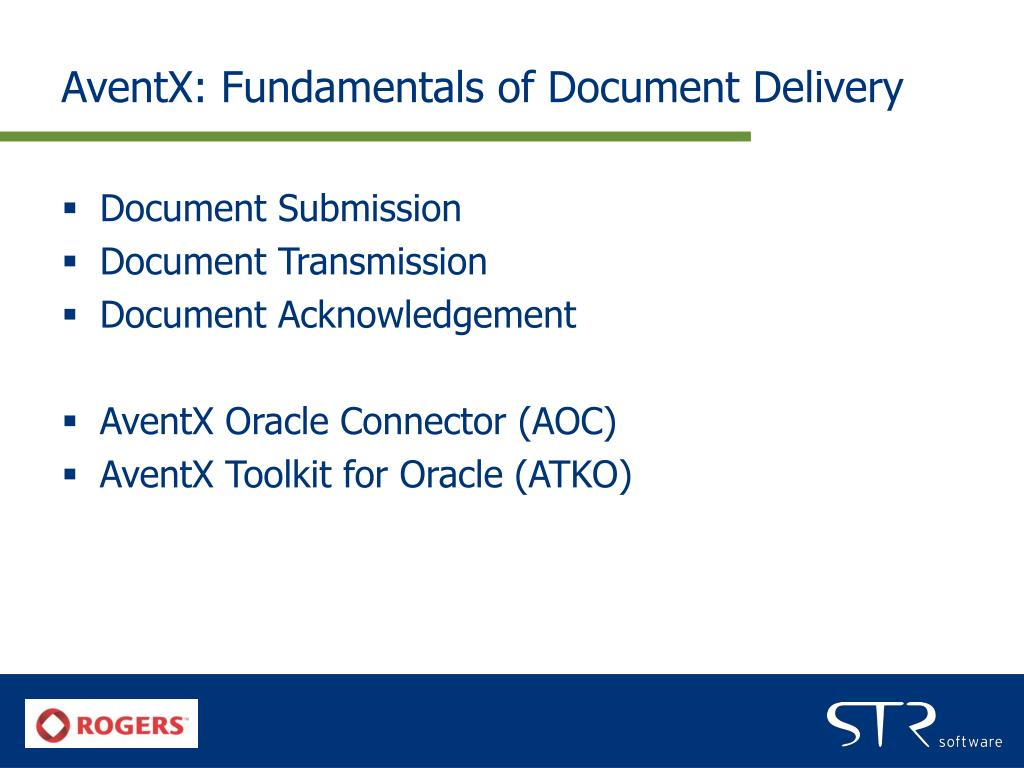 AventX: Fundamentals of Document Delivery