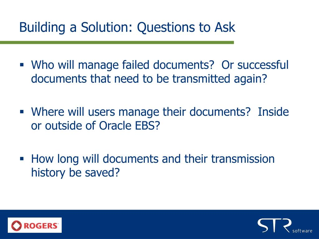 Building a Solution: Questions to Ask