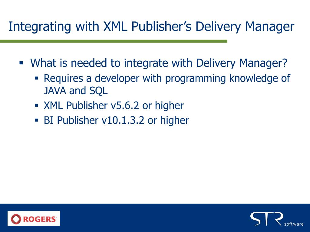 Integrating with XML Publisher's Delivery Manager