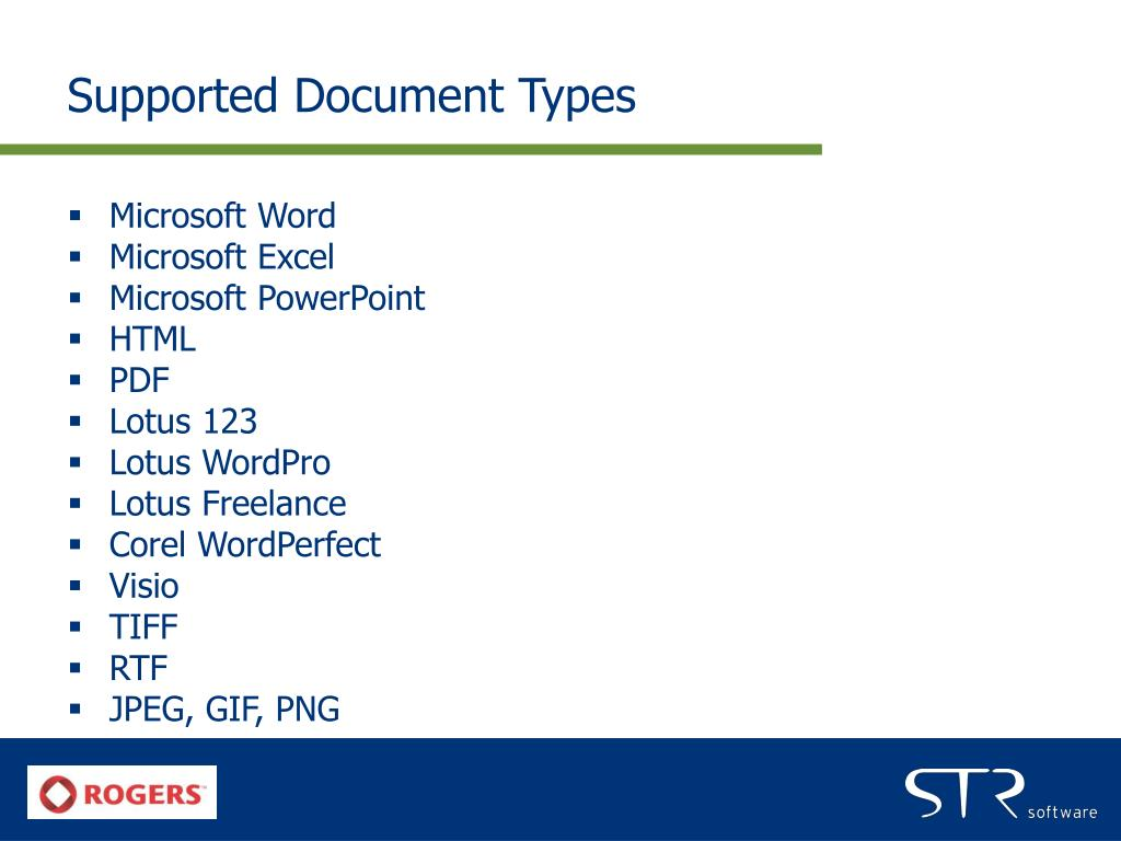 Supported Document Types