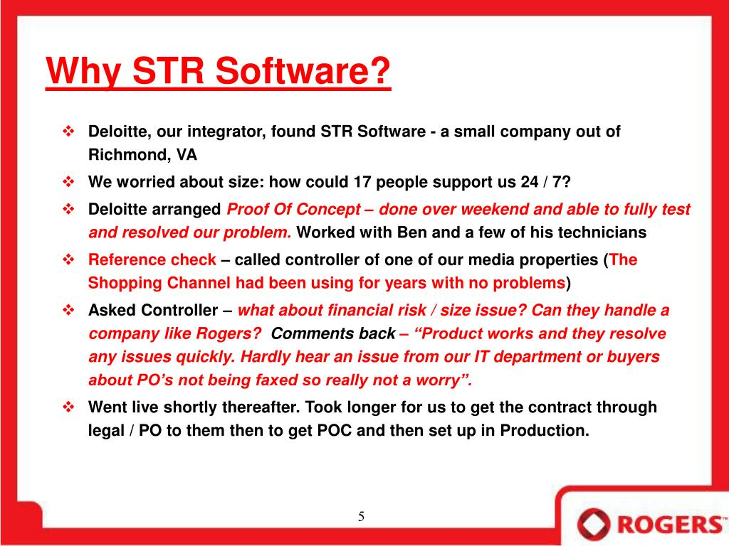 Why STR Software?