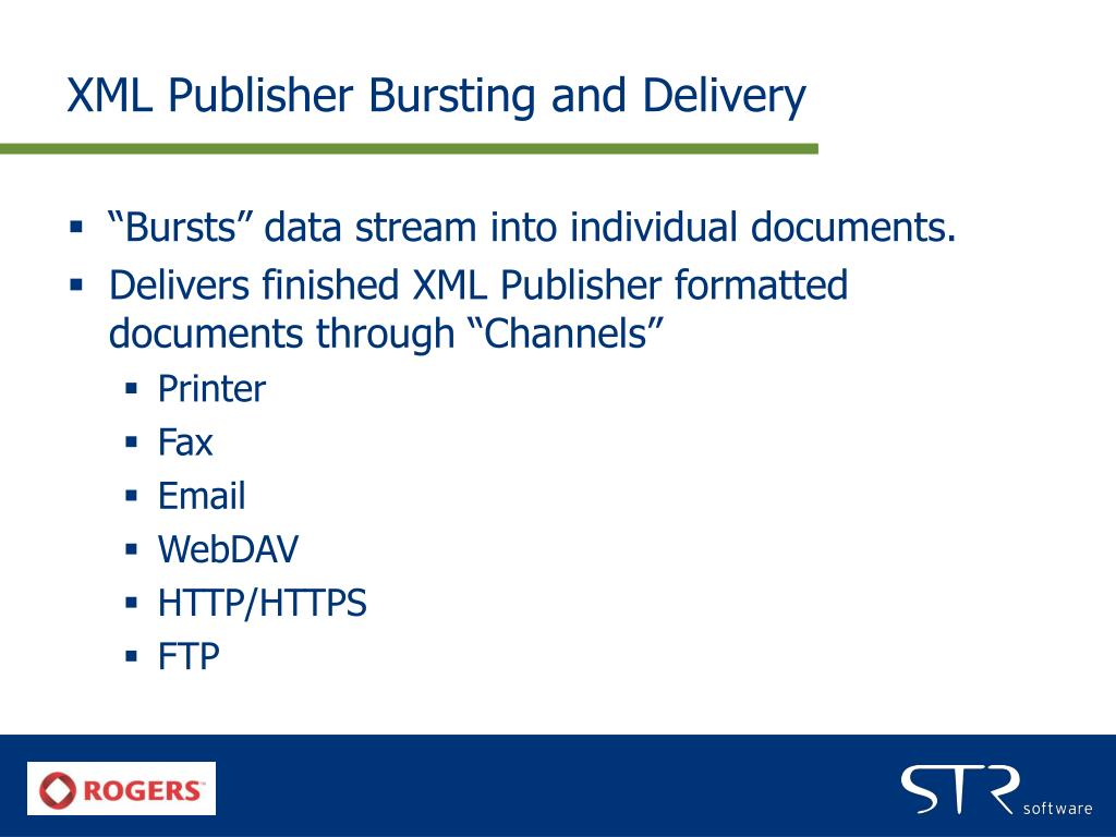 XML Publisher Bursting and Delivery