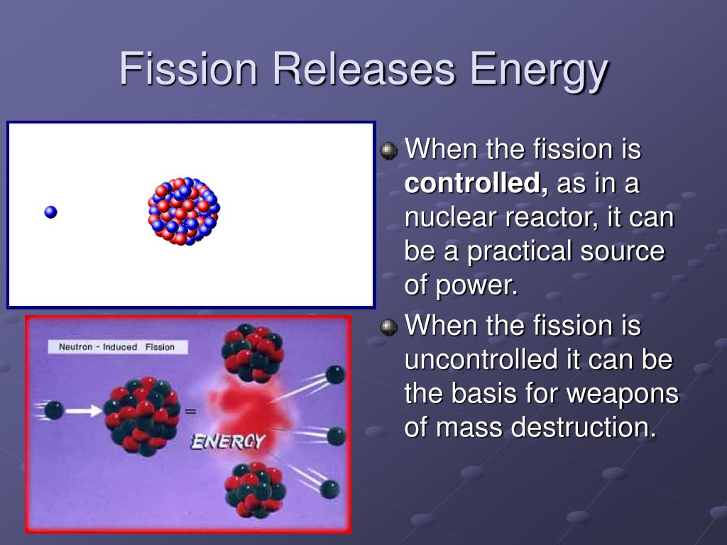 Fission Releases Energy