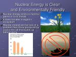 nuclear energy is clean and environmentally friendly