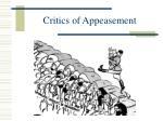 critics of appeasement