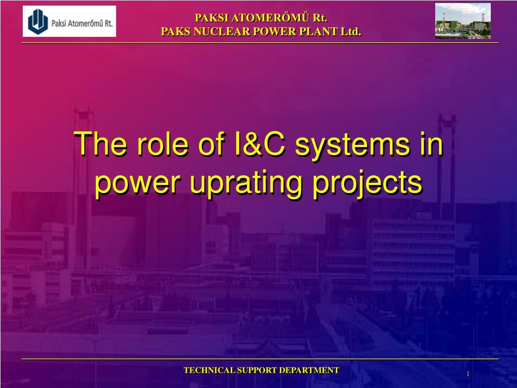 the role of i c systems in power uprating projects