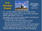 u s nuclear power