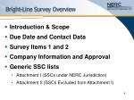 bright line survey overview