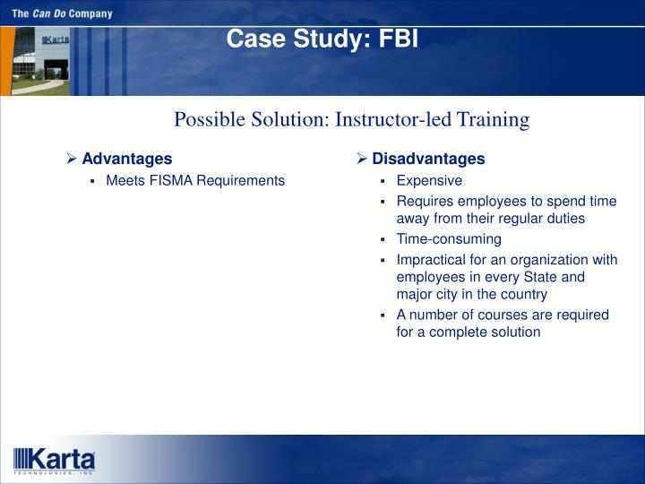 fbi case study This case study presents systems and software engineering issues encountered in the federal bureau of investigation (fbi) virtual case file (vcf) project in the period between 2000-2005.