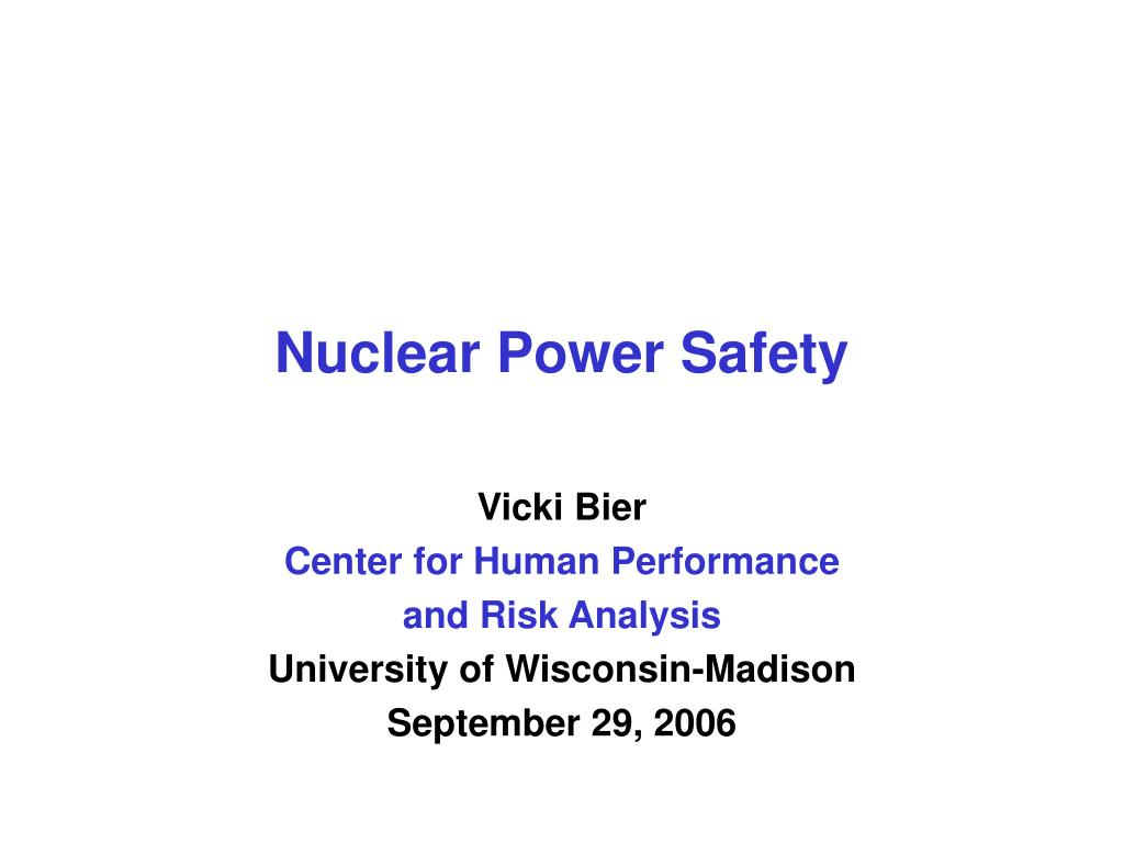 nuclear power safety l.