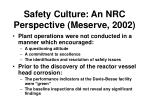 safety culture an nrc perspective meserve 2002