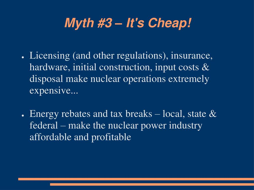 Myth #3 – It's Cheap!