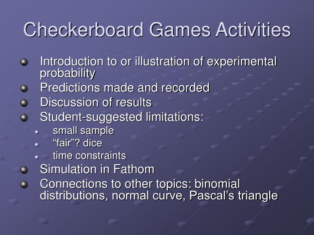Checkerboard Games Activities