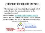 circuit requirements