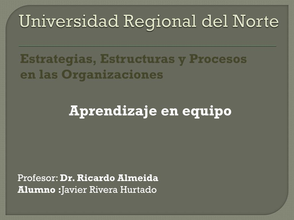universidad regional del norte l.
