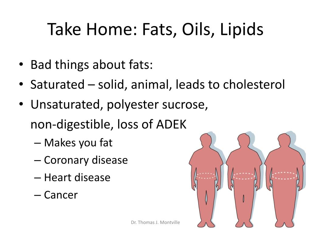 Take Home: Fats, Oils, Lipids