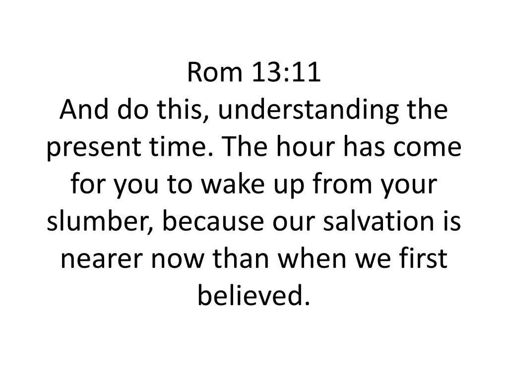 Rom 13:11