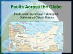 faults across the globe
