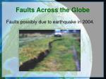 faults across the globe7