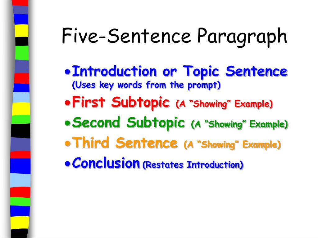 Five-Sentence Paragraph