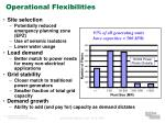 operational flexibilities