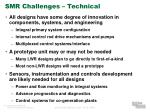 smr challenges technical