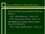areas in which we show reverence13