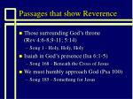 passages that show reverence9