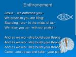 enthronement