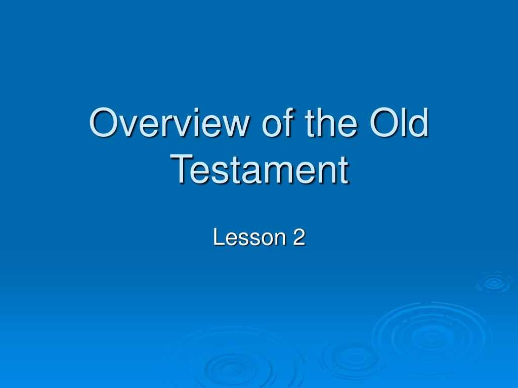 overview of the old testament l.
