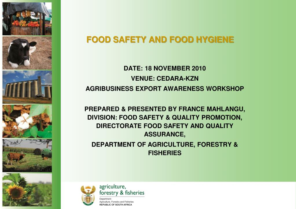 PPT - FOOD SAFETY AND FOOD HYGIENE PowerPoint Presentation - ID:328840