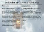 2nd point of calvin arminius