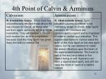 4th point of calvin arminius