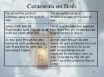 comments on both