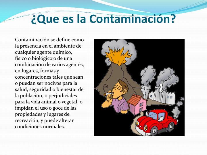 Que es la contaminaci n