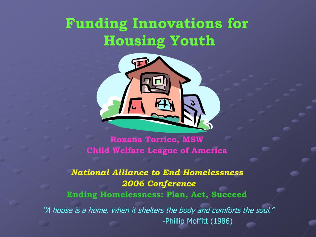 funding innovations for housing youth l.
