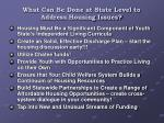 what can be done at state level to address housing issues