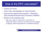 how is the epc calculated