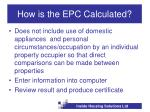 how is the epc calculated7