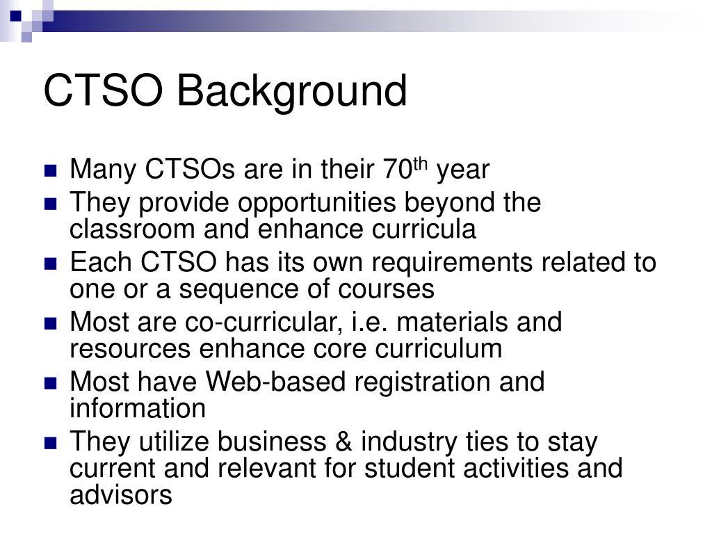 CTSO Background