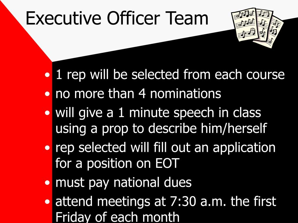 Executive Officer Team